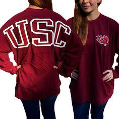 USC South Carolina Gamecocks Women's Logo Sweeper Long Sleeve Oversized Top Shirt