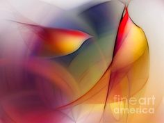 Early in the Morning - Abstract Impressionist Digital Art by Karen Kuhlman. love it!