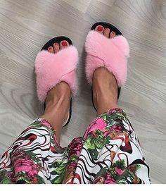 Fur Slides, Mink, Slippers, Sandals, Womens Fashion, Shoes, Sneaker, Shoes Sandals, Zapatos