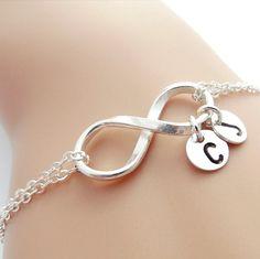 Infinity Bracelet Personalized Two Initial Bracelet