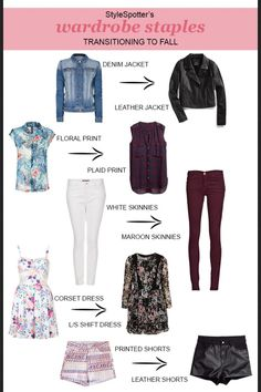 Summer to fall outfit transitions
