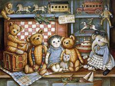 Teddys & Toys by Nita Showers - Teddy Bear Wallpapers - Precious Teddys & Toys - Vintage Teddy Bear , Gorgeous Teddies From Nita Showers 1 Tatty Teddy, Pepe Le Pew, Bear Photos, Bear Pictures, Betty Boop, Tedy Bear, Teddy Bear Cartoon, Bear Paintings, Bear Illustration