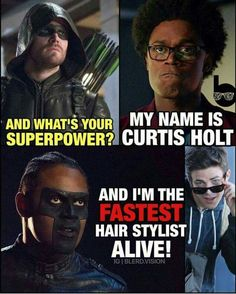 I've always suspected that Barry Allen knew how to cornrow.