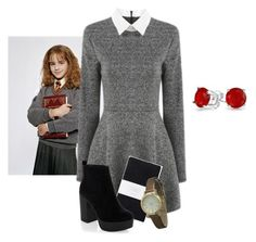 Hermione Granger/Harry Potter by fashionimagination on Polyvore featuring polyvore fashion style Toast New Look Geneva Bling Jewelry clothing