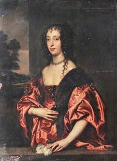 Anne Villiers (d.1654), 'Lady Dalkeith', Later Countess of Morton by Anthony van Dyck (after) in the collection of Penrhyn Castle - (would be glorious if cleaned & restored)