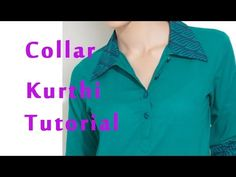 How to stitch band collar, How to sew band collar kurti, shirt collar kurti - YouTube