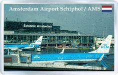 $3.29 - Acrylic Fridge Magnet: Netherlands. Amsterdam. Airport Schiphol AMS