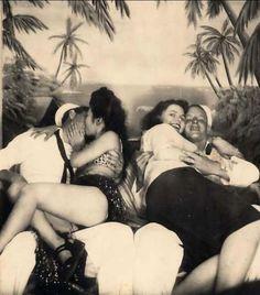 Happy sailors in Hawaii, 1942