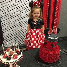 Minnie Mouse Birthday Decorations, Minnie Mouse Theme Party, Mickey Mouse Clubhouse Birthday, Mickey Birthday, Mickey Party, Baby Girl Birthday, 2nd Birthday, Disfraz Minnie Mouse, Minnie Y Mickey Mouse