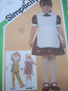 See Sally Sew-Patterns For Less - Child's Dress Peter Pan Collar Tabard