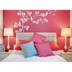 Wall Decorating Stickers Ideas For Bedrooms Nice Room Design intended for dimensions 1001 X 1001 Simple Bedroom Wall Designs - If you're looking for ways t Teenage Girl Bedroom Designs, Bedroom Wall Designs, Teenage Girl Bedrooms, Modern Bedroom Design, Girls Bedroom, Master Bedroom, Pink Bedrooms, Bedroom Simple, White Bedroom