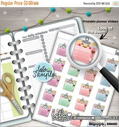 60%OFF - Checklist Stickers, Printable Planner Stickers, Clipboard Stickers, Erin Condren, Kawaii Stickers, Life Planner, Planner Accessorie