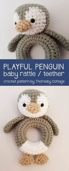 Gorgeous crochet penguin pattern by Thoresby Cottage! Proceeds from pattern sales are donated to wildlife conservation