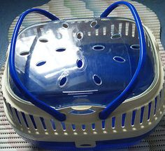 FERPLAST Small/Medium Pet Carrier Ideal for Hamster Gerbil Mouse Guinea Pig etc