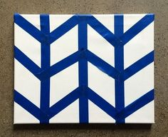 Diy Tape Art Museum Of Visual Materials Canvas Painting Patterns, Tape Painting, Easy Canvas Painting, Geometric Painting, Diy Painting, Kids Canvas Art, Small Canvas Art, Diy Canvas, Painters Tape Art