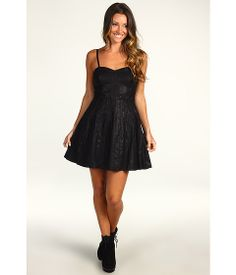 Free People Vegan Leather Pleated Dress    Can't help it - just love black!