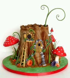 New cake decorating with fondant website 27 ideas - Cake Decorating Simple Ideen Fairy House Cake, Fairy Garden Cake, Garden Party Cakes, Fairy Cakes, Fairy Houses, Garden Art, Fairy Birthday Cake, Birthday Cupcakes, Funny Birthday