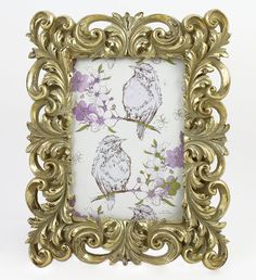 Amazon.com - Beautiful Distressed Resin 5x7 Photo Frames for Table Top or Wedding Table Decor (Gold) -
