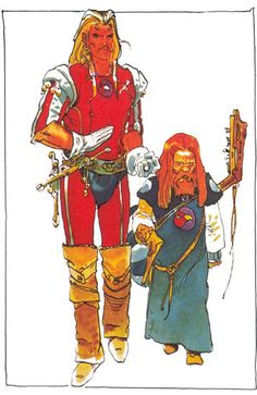 Moebius character design for Jodorosky's DUNE