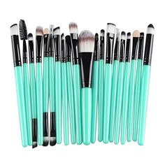 BrushBeautyVan 20pcs Makeup Toiletry Kit Wool Make Up Brush Set Black *** You can get more details by clicking on the image.