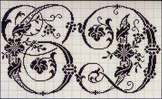 Encantadores coração coisas: Ponto de Cruz: Alfabeto do álbum francês do século XIX (2)