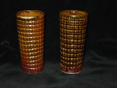 1978 Harding Black Pottery RARE Pair RARE Tumblers Excellent Condition - Rare Sgraffito Harding Black Pottery Tumblers. This auction is for the pair pictured.  Two Tumblers. 7 inches tall. 3 inches across mouth. 2 1/2 inches across base. | eBay - starting bid $225