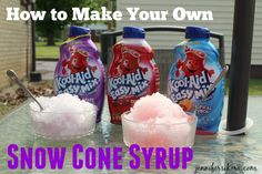 Make Your Own Snow Cone Syrup Using Kraft Kool-Aid Easy Mix -