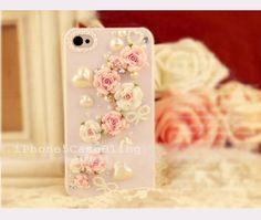 iPhone case, iPhone 4 case, iPhone 4s case,bling iphone 4 case, bling iphone 5 case, cute iphone 4 case, flower iphone 4 case