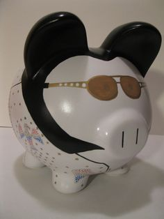 Elvis Piggy Banks - Made To Order - Would you believe......ELVIS   (Unofficial). $47.00, via Etsy.