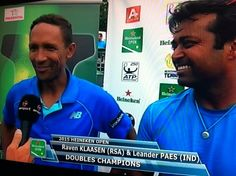 1/17/15 Leander Wins 55th Career Doubles Title In Auckland! Leander Paes & Raven Klaasen Win Men's Doubles Title at #HeinekenOpen #Tennis with 7-6 (7-1), 6-4 win v Dominic Inglot / Florin Mergea.