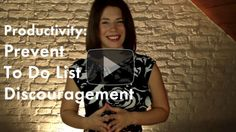 {Productivity Video} How to Prevent To Do List Discouragement #productivity #organizing #newyear #mindset #organize #todolist #happiness #celebrate #joy #taskmanagement #projectmanagement #smallbiz #smallbusiness #entrepreneur