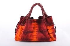 Tie dyed sued purse