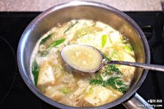 Korean Food, Soups And Stews, Cheeseburger Chowder, Food And Drink, Meals, Cooking, Healthy, Ethnic Recipes, Appliques