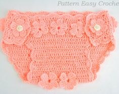 Crochet Pattern Baby Diaper Cover F Loral Instant Download Pattern