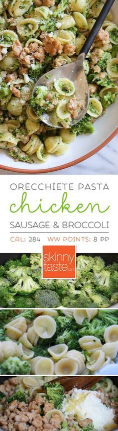 Orecchiette Pasta with Chicken Sausage and Broccoli – an EASY, family-friendly meal ready in less than 20 minutes!