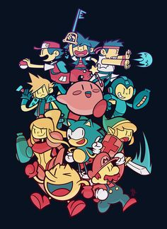 Video Game Heroes by Air-Pirate-Bunny | Wow... almost all of these guys are in Smash. Rip Sora lol