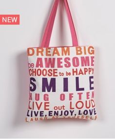 SMILE 35 ΤΣΑΝΤΑ ΩΜΟΥ Happy Smile, Dream Big, Hug, Reusable Tote Bags, Design, Cuddle