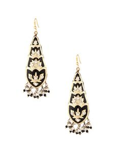 Gorgeous Lac Earrings With Black Meenakari Work | Rs. 440 | http://voylla.com