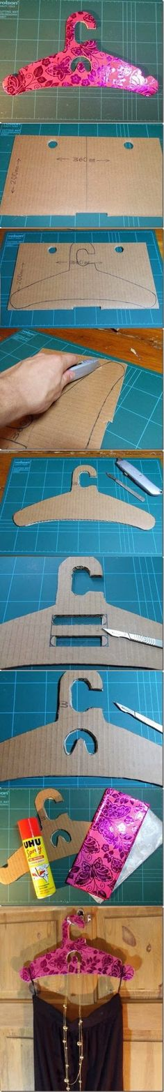 DIY : Make a dress hanger by cardboard | DIY & Crafts Tutorials