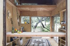 The kitchen counter inside Mason St. Peter's Surf Shack in Topanga Canyon on Gardenista