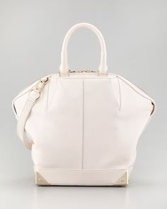Alexander Wang small dome tote in Champagne at Neiman Marcus