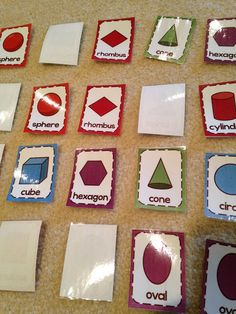 my students love memory matching games! Shapes and Geometry activities and worksheets for math centers.