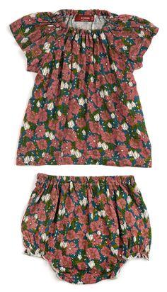 876e314e9b95 Dress & Bloomer Set, Navy Floral Bambu, Volanger, Jumpsuits, Kjolar, Kläder