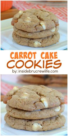 These easy carrot cake cookies are full of white chocolate and caramel and will not last very long in your house.