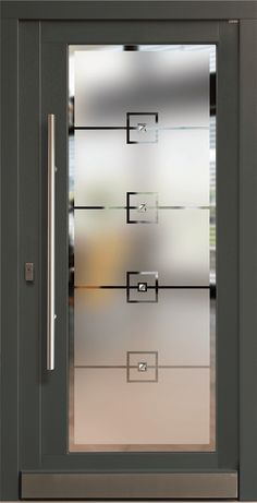 Balcony Glass Design, Window Glass Design, Frosted Glass Design, Frosted Glass Door, Glass Etching Designs, Glass Painting Designs, Main Entrance Door Design, Modern Exterior Doors, Pooja Room Door Design