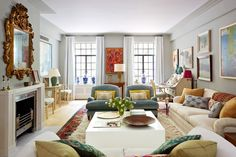 Another view of this colorful and inviting living room