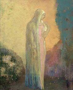 Odilon Redon - Standing Veiled Woman