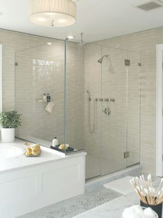 master bath remodel - I love everything about this! master bath remodel - I love everything about t Bad Inspiration, Bathroom Inspiration, Dream Bathrooms, Beautiful Bathrooms, Master Bathrooms, Master Tub, Master Bedroom, White Master Bathroom, Master Bathroom Shower