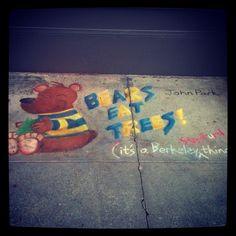 """Chocolate and chalk art festival, Berkeley CA"" via kayxseraxsera"