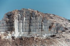 modern marble quarry Naxos - CC by SA. Stone Quarry, Uk Location, Greek House, Places In Europe, Ancient Greece, Greek Islands, Trees To Plant, Architecture, Natural Stones